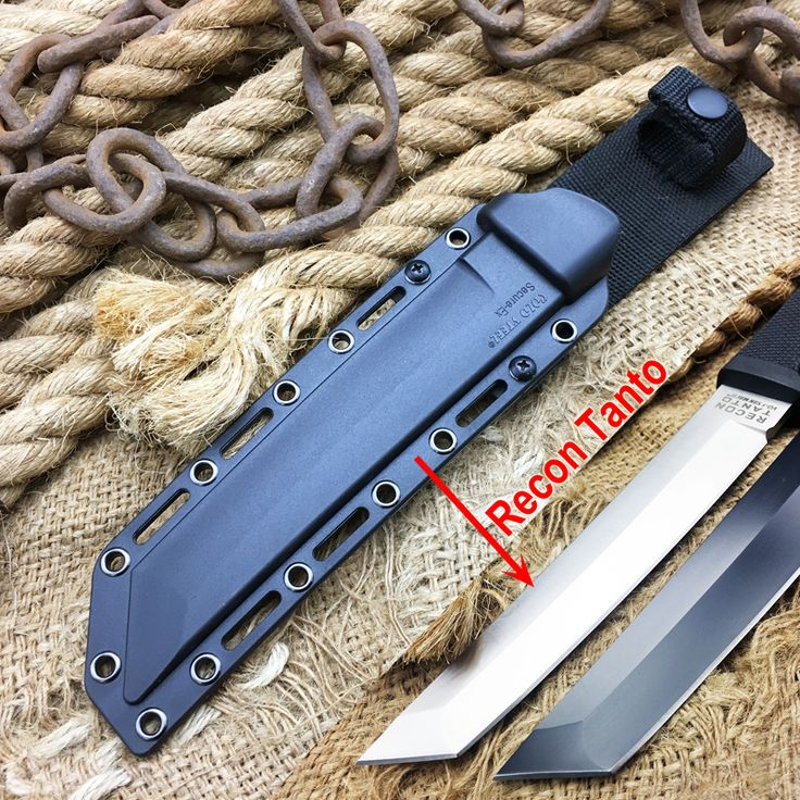 Cold Steel Tactical Fixed Blade Knife With Sheath,Recon Tanto Pocket Knife ABS Sheath,Outdoor Hunting Tools,EDC Survival Knives
