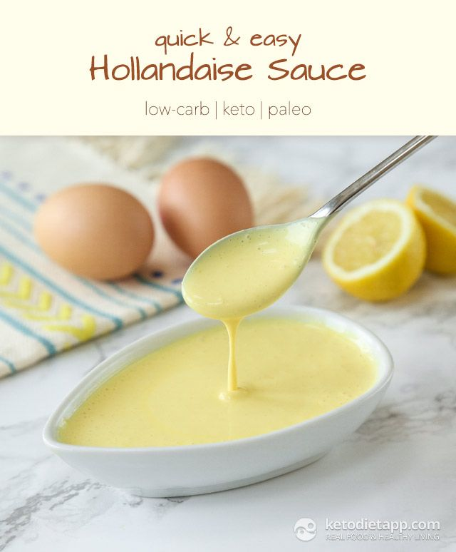 Easy Hollandaise Sauce (low-carb, keto, paleo/ primal)