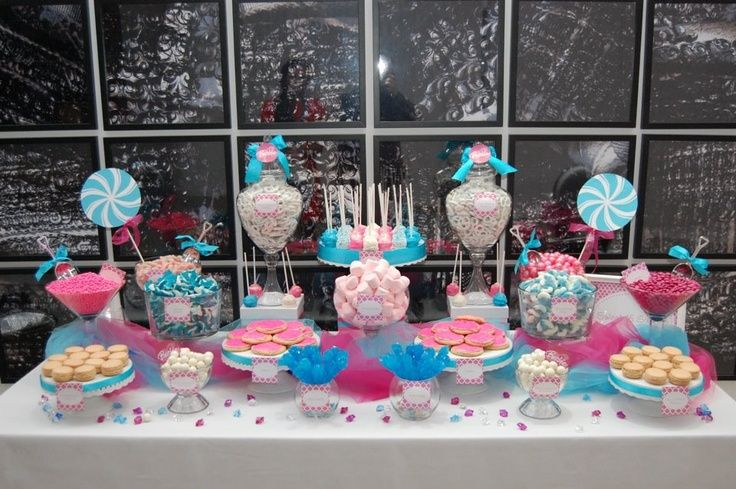 Party buffet table decorating ideas candy table lisa 39 s candy buffet party ideas creative - Official table design idea ...