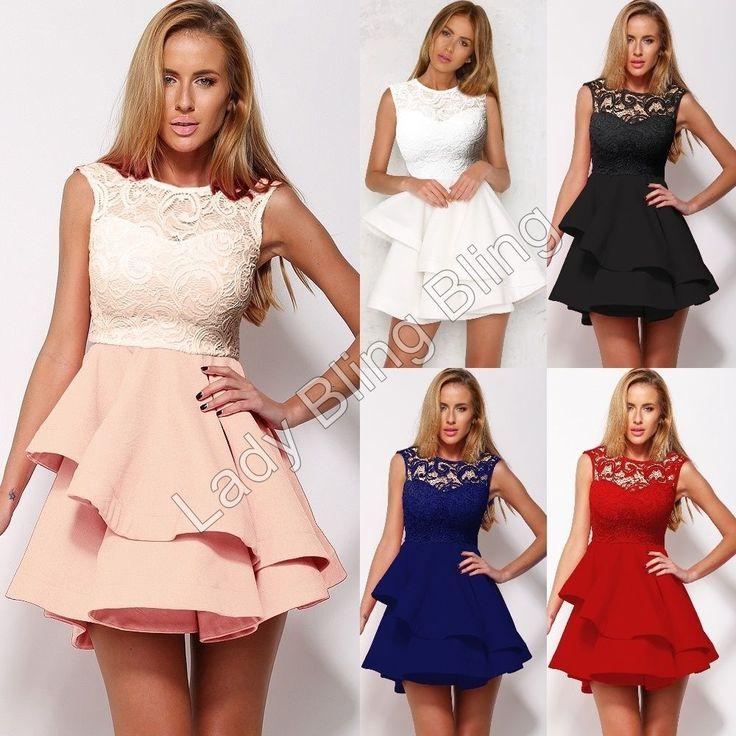 Damen kleider kurz ebay