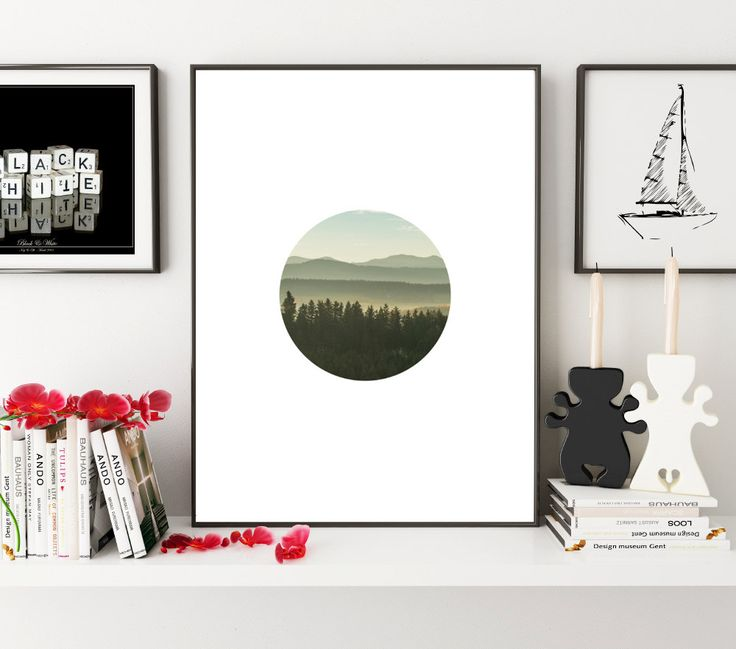 Forest Print, Forest Photo Print, Circle Photo, Green Print, Minimalistic Print, Forest Wall Art, Forest Circle Photography, Landscape Print