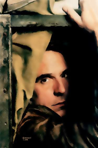 "Saatchi Art Artist CARMEN LUNA; Painting, ""9-JEREMY  IRONS."" #art"