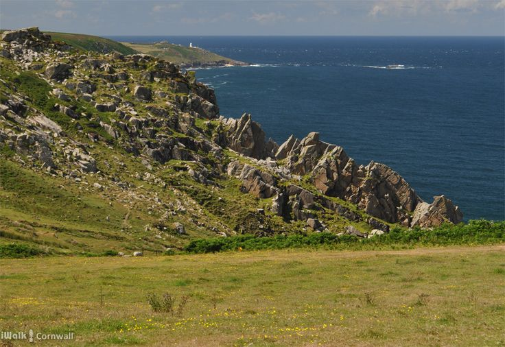 View from the Porthmoina Valley towards Pendeen, Cornwall