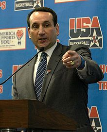 I am a Tar Heel fan, but Coach K is one of the few college basketball coaches outside of UNC that I respect.