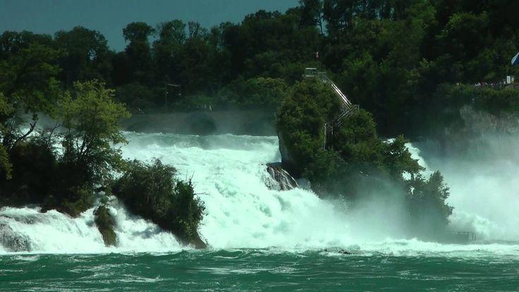 (CH) Rheinfall największy wodospad Europy