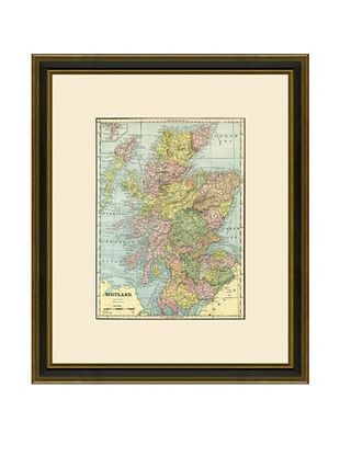 50% OFF Antique Lithographic Map of Scotland, 1883-1903