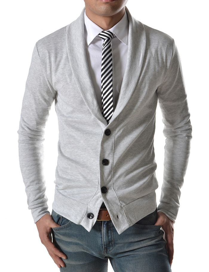 Semi formal? Button up, tie, cardigan.