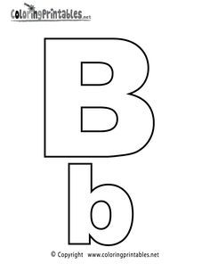 Alphabet Letter B Coloring Page - A Free English Coloring Printable