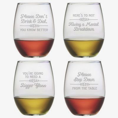 Susquehanna Glass Each stemless tumbler in this set of four features a different, wine-themed sand etched design. Made and decorated in the USA. Features: -Each glass features a sand etched…MásMás  Colombia Travel Больше информации на нашем сайте   https://storelatina.com/colombia/travelling #diet #colombiana #کولمبیا #colombie