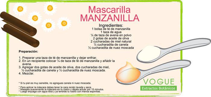 Mascarilla de Manzanilla VOGUE Extractos Botánicos