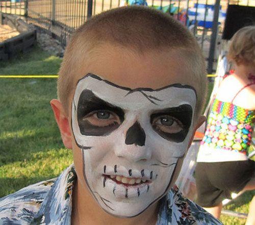 Trucco di Halloween per bambini: versione del teschio n.3