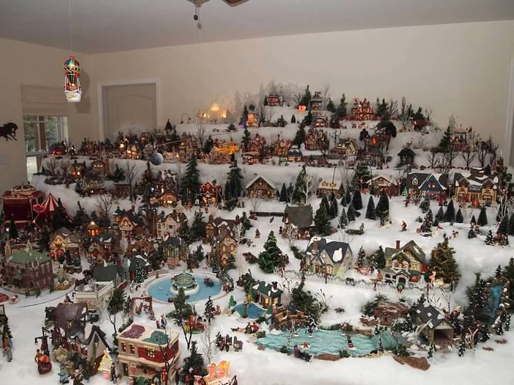 talk about a christmas village looks like you could go on a long walk thru town