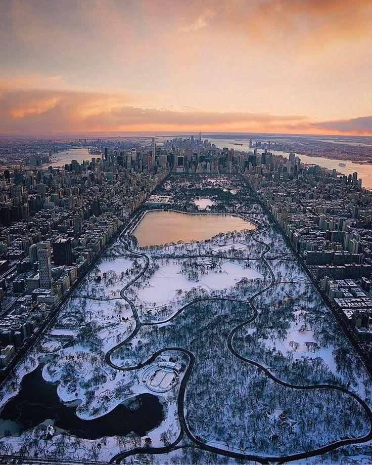 Central Park is living an Ice Age by @paulganun | newyork newyorkcity newyorkcityfeelings nyc brooklyn queens the bronx staten island manhattan