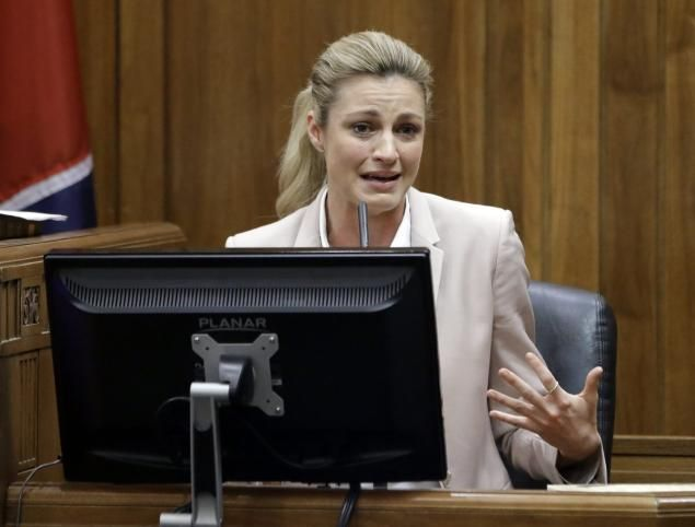 Erin Andrews endures brutal cross examination as lawyer suggests nude leak of video advanced sportscaster's career