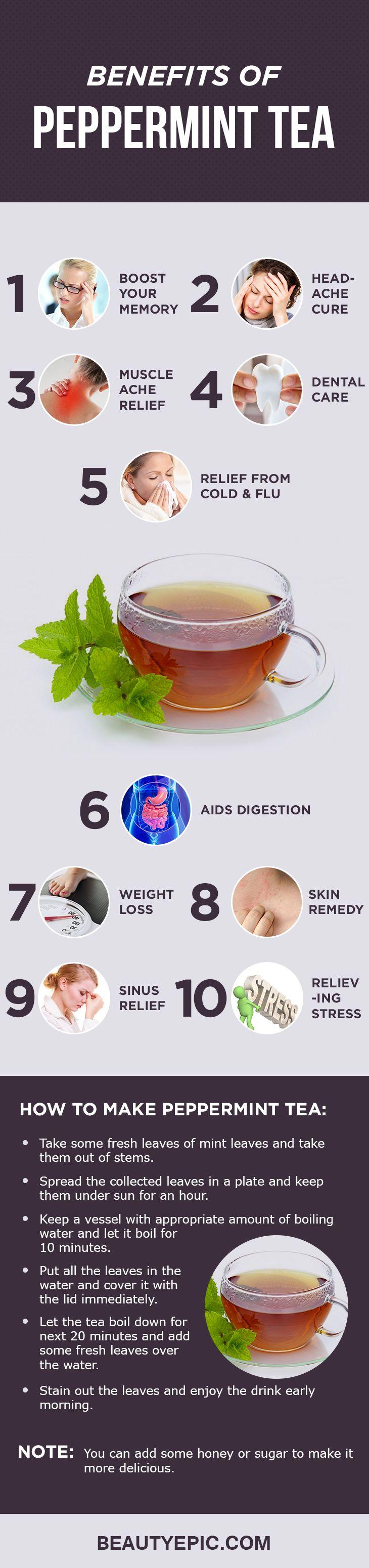 12 Amazing Health Benefits of Drinking Peppermint Tea