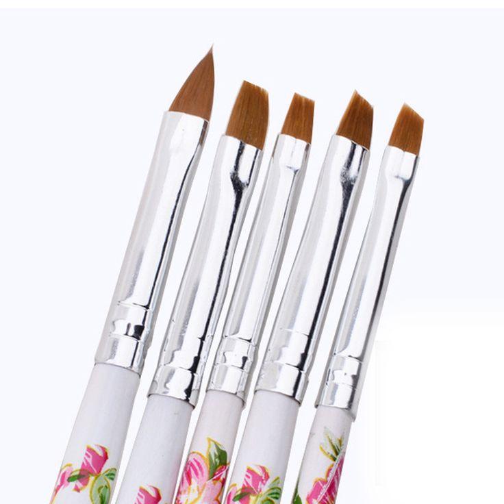 5pcs UV Gel Acrylic Nail Art Brush Painting Pen Set Nail Design Manicure Tool G6701