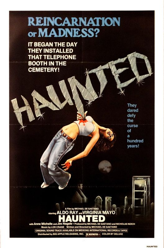 "Haunted. Original 1977 US 27""x41"" Theater Movie Poster. FREE SHIPPING. Horror. Aldo Ray, Virginia Mayo, Anne Michelle,Jim Negele,Linda Best. by ArtisticSoulStudio on Etsy"