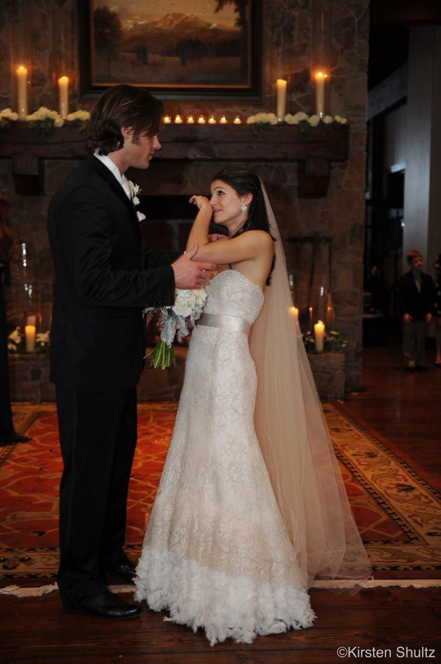 Genevieve Cortese and Jared Padalecki on their Wedding Day -- This is so cute!