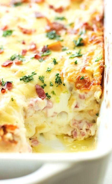 Low FODMAP and Gluten Free Recipes - Chicken & ham lasagne http://www.ibssano.com/low_fodmap_recipe_chicken_ham_lasagne.html