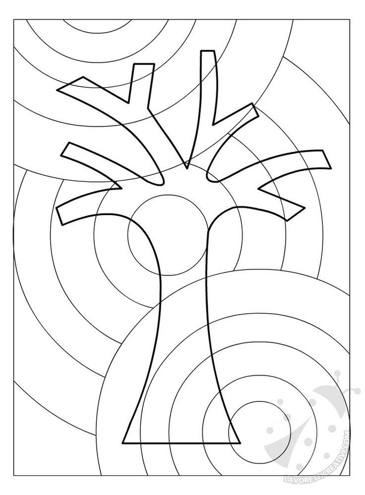 albero con cerchi