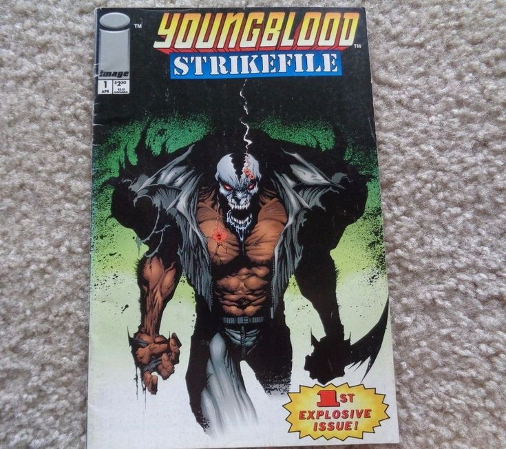 Image Comics Young Blood April  No. 1 1993 Strike File