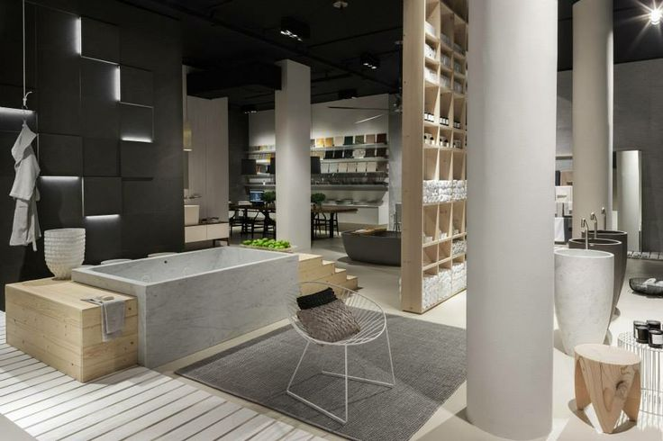 NEUTRA Flagship Store in milan - water_wellness_stone. #bathroom #spa #design #bathtube #hydrowell