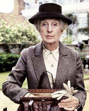 Joan Hickson, the best Miss Marple in my opinion (& apparently she's the woman Agatha Christie always wanted to play her)