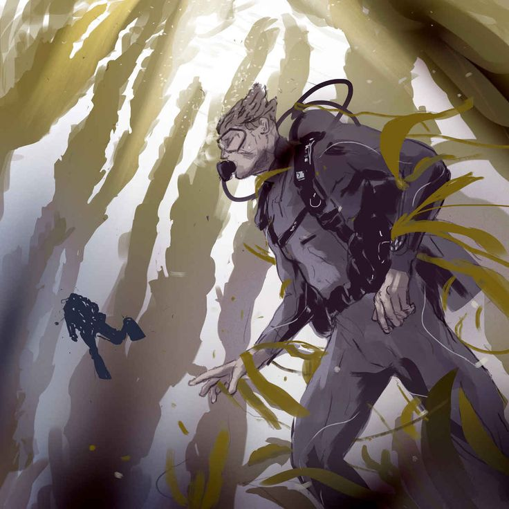 Scuba Diver Caught in Kelp Illustrations Lessons for Life