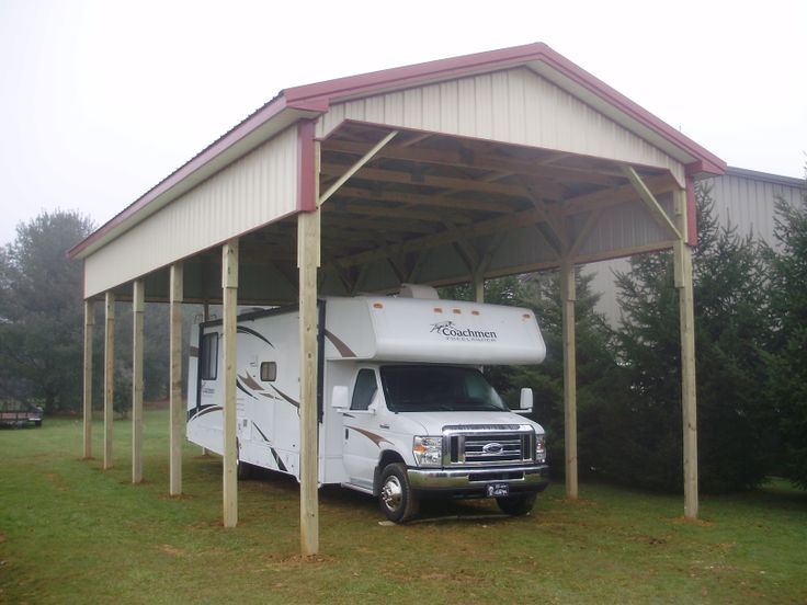 34 best pavilions images on pinterest cabana gazebo and for Pole barn for rv storage