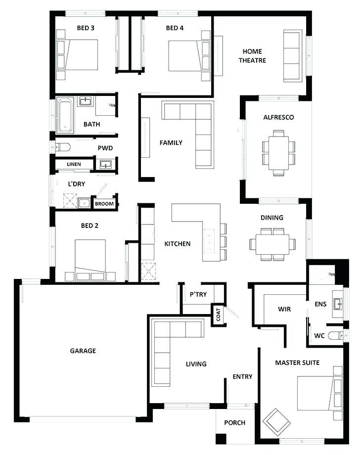 5 Bedroom Bungalow Plans In Nigeria Three Bedroom Bungalow Plan 5
