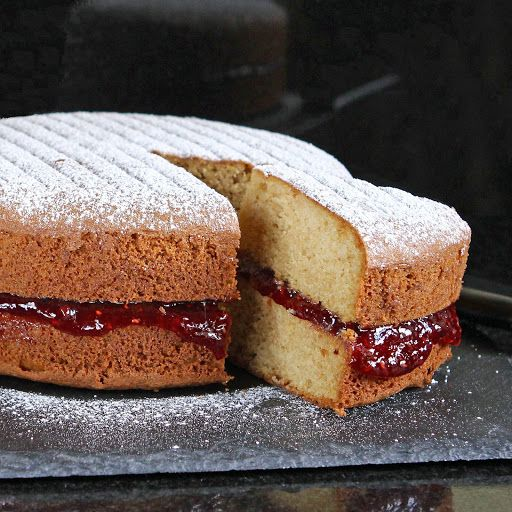 A Simple but Perfect gluten free Victoria Sandwich Cake (also rice free, nut free and optional dairy free)
