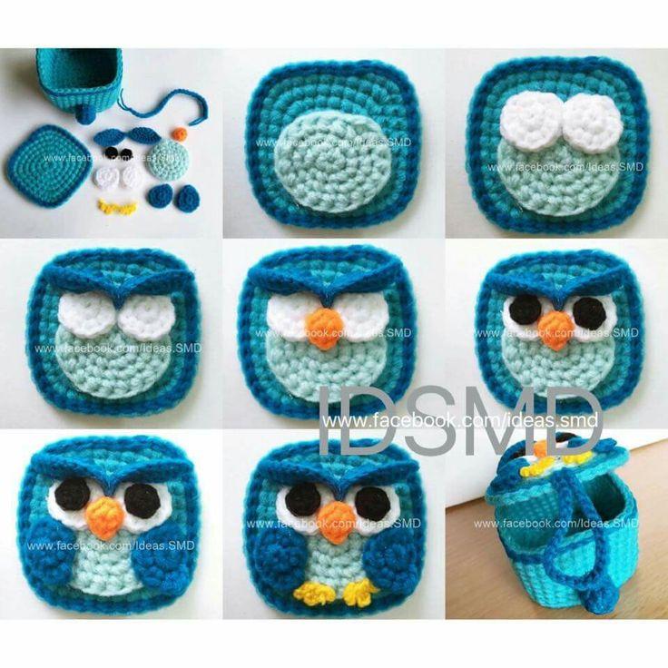 Cute owl basket