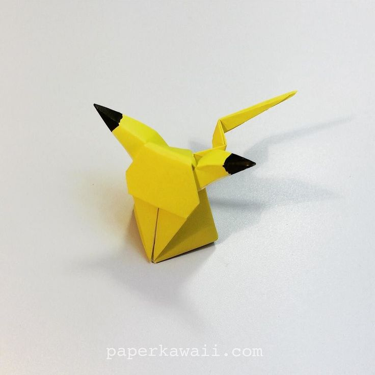 Little sitting Pikachu getting back to folding again.. #origami #paper #Pikachu…                                                                                                                                                                                 More