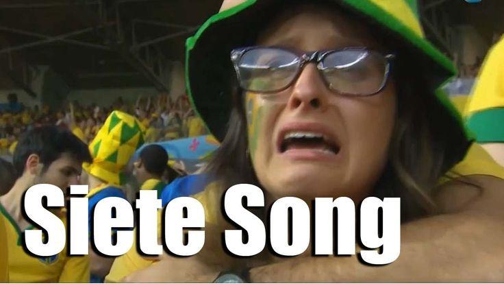 Siete song - La canción de la goleada Alemania - Brasil (subt. português... Jaja