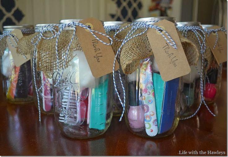 baby shower hostess gifts diy mason jar manicure kit gift ideas