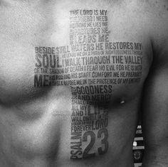 40 Psalm 23 Tattoo Designs For Men