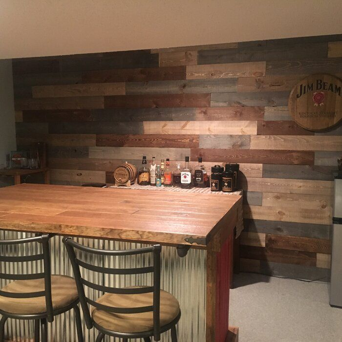 5 5 X 48 Solid Wood Wall Paneling Wood Panel Walls Basement Bar Designs Home Bar Rooms