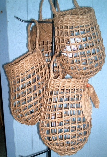 BASKETS Onion Storage  Large size dark brown by basketrybotanica, $32.00