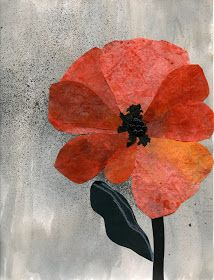 that artist woman: Poppy Art for Remembrance Day - coffee filter petals and tempera paints