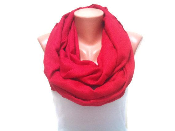 Red infinity Scarf Trendy scarf Loop infinity scarf by TrendyScarf, $12.99