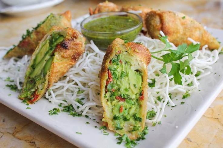 Avocado Egg Rolls : You can get these at just about any