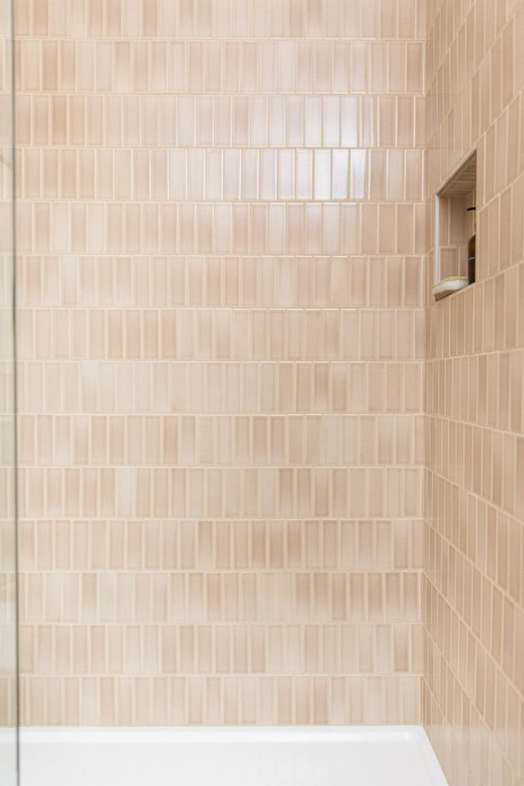 2x6 Sand Dune Tiles Cover These Shower Walls Bathroom Shower Walls