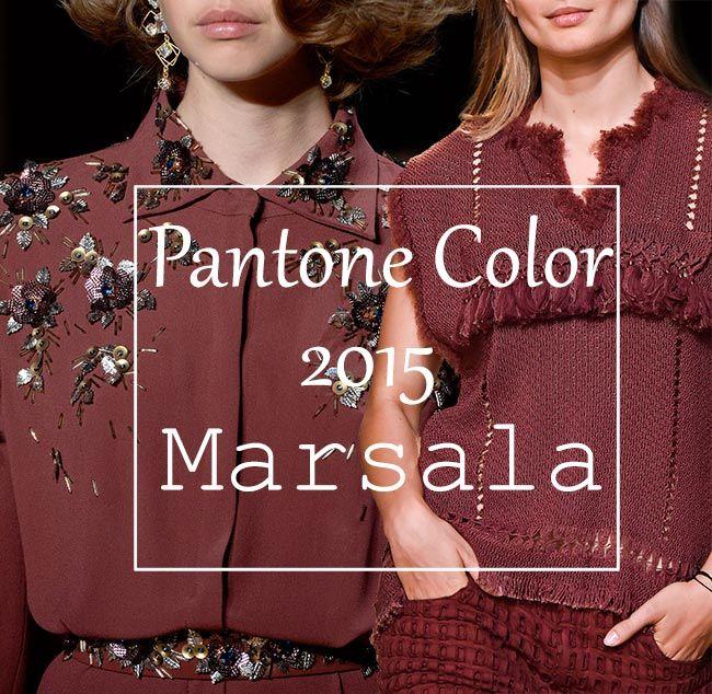 Pantone 2015 Color of the Year: Marsala  #marsala #pantone2015 #colortrends