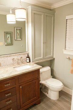 over toilet cabinets- Waynesboro Master Bath Renovation - transitional - Bathroom - Houston - Curtis Lawson Homes