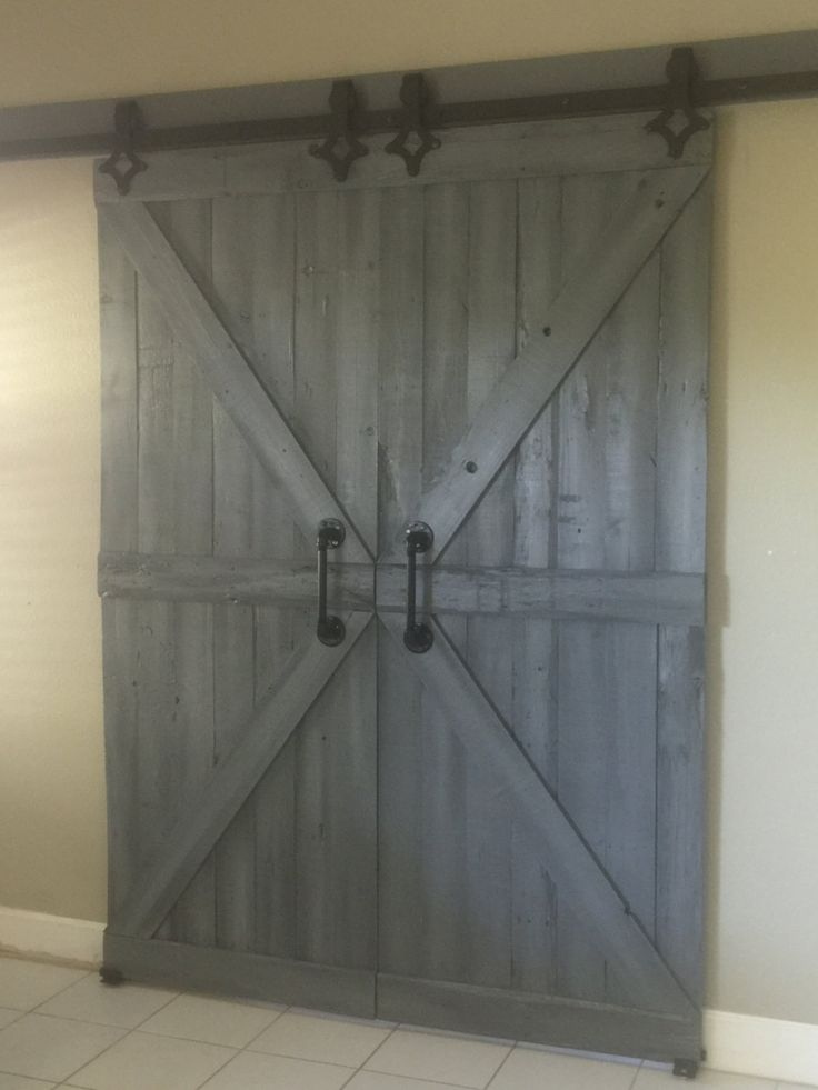 single barn door or double barn doors by plank49designs on etsy more