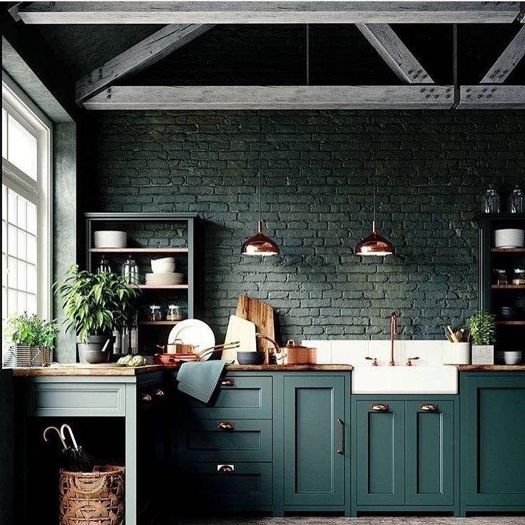 interiors inspiration on instagram really amazing color photo lesinge julien el julian on kitchen interior green id=18982