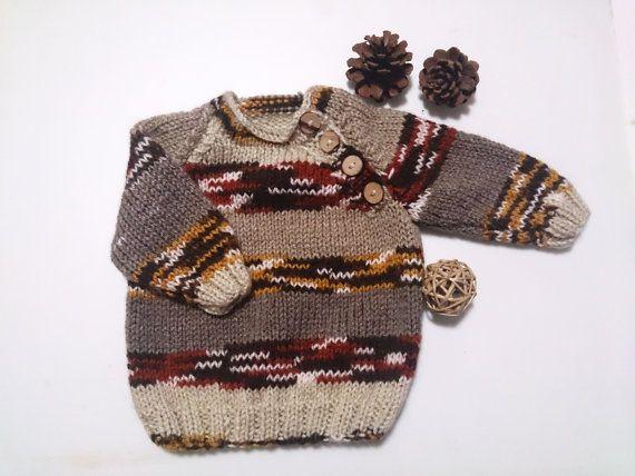 Woodland nursery baby boy knit sweater Unique by HandmadeByAtlas