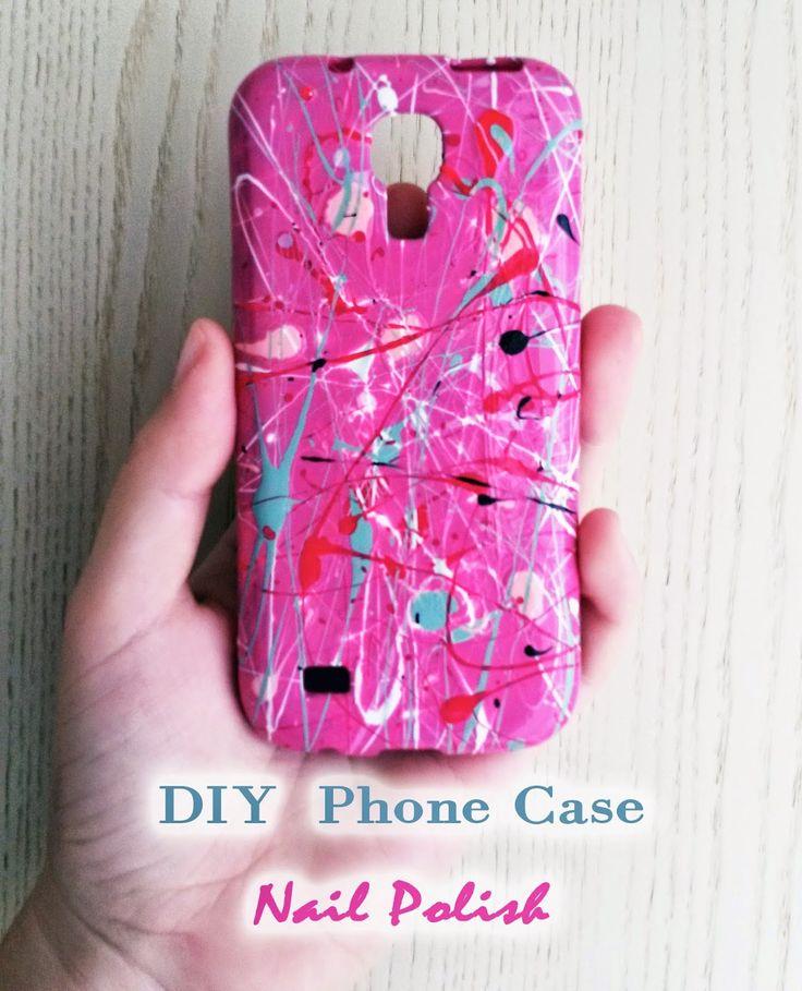 Diy Phone Case with Nail polish - Cover Cellulare con gli smalti
