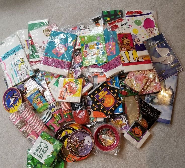 Huge Wholesale Party Supplies Lot Christmas Birthday Halloween St Patricks Day #HallmarkAmericanGreetingsETC #Various