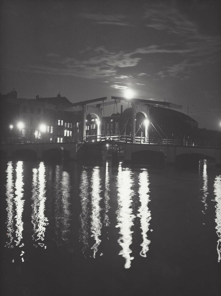 """ Amsterdam by night "" about 1953-1958. Kees Scherer"